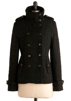 Scholarly Pursuits Jacket - oh, give me some peacoat inspired fashion any day!