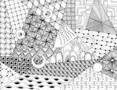 geometric coloring page, Alice Hendon, The Creator's Leaf, CZT, www.thecreatorsleaf.com