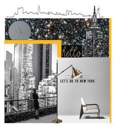 """""""Let's go .."""" by vervetandhowler ❤ liked on Polyvore featuring interior, interiors, interior design, casa, home decor, interior decorating, Dot & Bo, Menu, Newyork e interiordecor"""