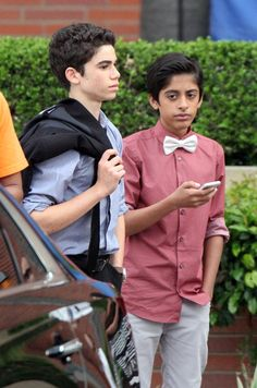 Cameron Boyce and Karan Brar sighting on March 29 2014 in Los Angeles... News Photo 483898847