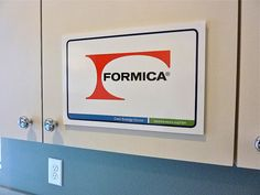 CRAFT/MUD ROOM - Formica Group - Sponsor of Cool Energy House - Cabinetry faced with Formica® 'Natural Weft' 5875-58. Formica Corporation's high pressure decorative laminates are now available with full Forest Stewardship Council (FSC®) certification at no additional charge. FSC-certified Formica® Brand Laminate may contribute towards LEED® projects under MR Credit 7.