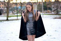 Leather Pencil Dress by @cultureandtrend