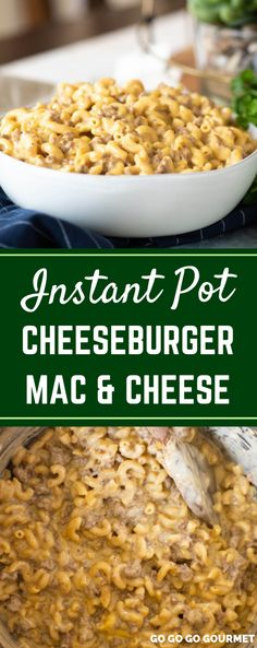 This Instant Pot Cheeseburger Mac is the best easy recipe for busy weeknights. Hamburger Helper doesn't compare to this homemade cheeseburger mac! Hamburger Helper, Hamburger Mac And Cheese, Cheeseburger Mac And Cheese, Cheeseburger Casserole, Penne Recipes, Cheese Recipes, Meat Recipes, Crockpot Recipes, Cheese Burger