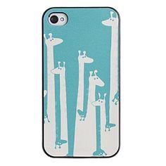 EUR € 2.47 - Estilo fresco Giraffe Padrão PC Hard Case com moldura preta para iPhone 4/4S, Frete Grátis em Todos os Gadgets!