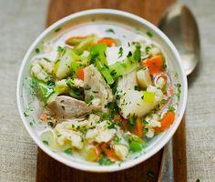 Hühnersuppe mit Gemüse und Petersilie: Rezept auf for me