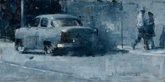 "Outside Buena Vista Social Club, Havana. ""Buena Vista"", 12 x 24, oil"