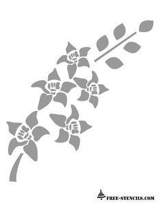 Free stencils free printable flower picture stencils for What kind of paint to use on kitchen cabinets for metal wall art trees and leaves
