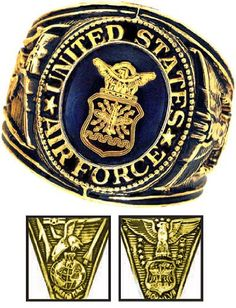 In commemoration of those who so proudly serve(d) in the armed forces gallantly defending our country comes the official commemorative Military Service Rings. Each ring is distinctly designed with the official insignia of each branch of service. The sides contain finely sculpted emblems of each branch as well. Richly crafted with 18k heavy gold electroplate, hand finished and precisely set with Austrian Crystal...
