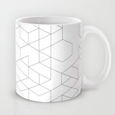 cubic vee Mug by CHIN CHIN - $15.00