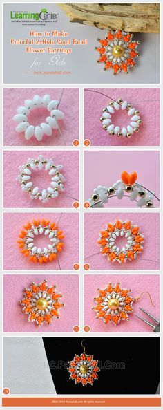 2-Hole Seed Beads Earrings Tutorial from LC.Pandahall.com