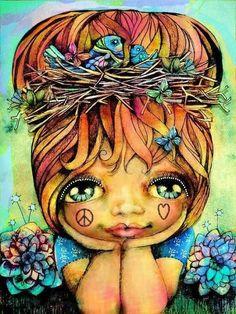 ☯☮ॐ Bohemian Hippie Art Hippie Peace, Happy Hippie, Hippie Love, Hippie Chick, Hippie Style, Hippie Bohemian, Feelin Groovy, Illustrations, Eye Art