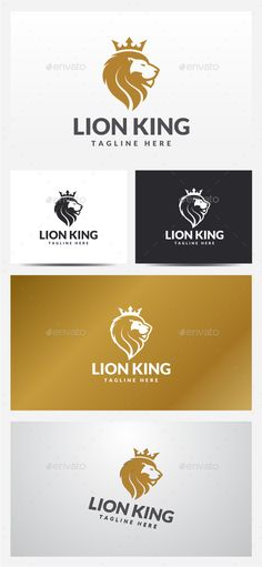 Lion King  Logo Design Template Vector #logotype Download it here: http://graphicriver.net/item/lion-king-logo-template/13310061?s_rank=170?ref=nexion