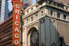 The Chicago Theater...opened in 1921.  A Chicago landmark for sure!  Take a group here for a tour...a class...a show!?   www.etadventures.com