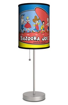 LAMP-IN-A-BOX 'Bazooka Joe and His Gang' Table Lamp - Red