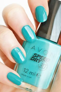 Cool colors for spring.this one is from Avon Avon Nail Polish, Avon Nails, Nail Polishes, Manicures, Great Nails, Fabulous Nails, Different Types Of Nails, Sassy Nails, Nail Jewelry