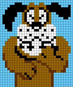 Nintendo Duck Hunt perler bead pattern