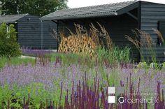 Prachtige weelderige beplanting in een landelijke tuin in Soest