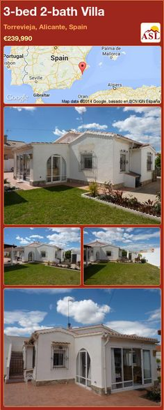 3-bed 2-bath Villa in Torrevieja, Alicante, Spain ►€239,990 #PropertyForSaleInSpain