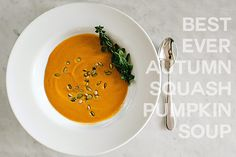 There's no better way to ring-in fall weather than to make a big pot of Pumpkin Squash Soup!