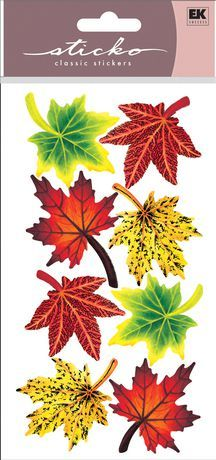 Sticko Stickers Maple Leaves $1.00