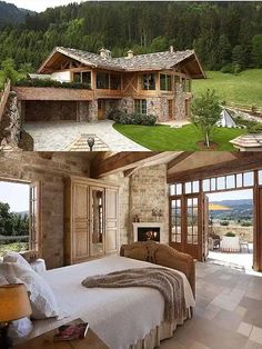 Are A-frame Cabin Kits Worth it? Architecture Renovation, Theater Architecture, Log Cabin Homes, Log Cabins, A Frame Cabin, Dream House Exterior, Stone Houses, Modern House Design, My Dream Home