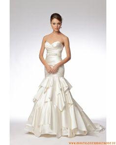 2013 Preiswerte neue Brautmode aus Satin Meerjungfrau Brautkleid Herzausschnitt