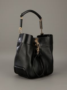 Alexander Wang-Bovine leather gold bag.