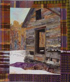 """Passages quilt, 37.5"""" x 32"""",  ©2016 by Ruth B. McDowell. Machine Pieced, Machine Quilted, Cotton Fabrics, Cotton Batting"""