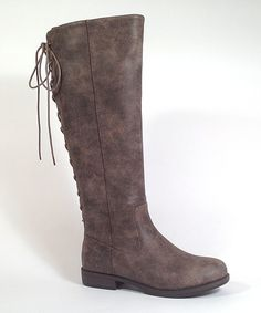 Look at this #zulilyfind! Brown Pebbled Montana Boot by Bamboo #zulilyfinds