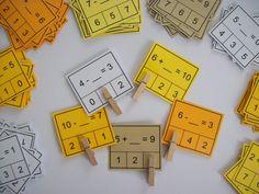 Žáci pomocí kolíčků označují správné řešení. Žák si samostatně nebo ve skupině procvičuje a upevňuje... Maths, Montessori, Homeschooling, Study, Learning, Exercise, Kid, Studio, Studying