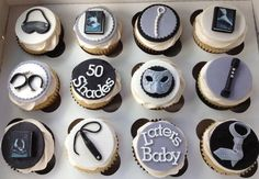 50 Shades of Grey Cupcakes - by The SweetBerry @ CakesDecor.com - cake decorating website - pinning because I offered to make something for a friend's 50 shades themed party, and I've never actually read the book. Oops.