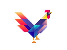 Rooster by Jinglu Li - Dribbble