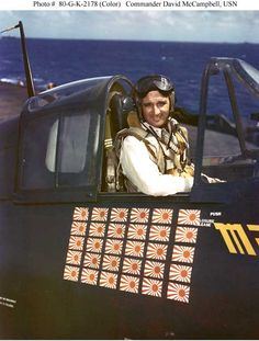 Commander David McCampbell David McCampbell was one of America's famous fighter aces of World War 2. Counting 34 victories he was America's third highest scoring ace, behind the legendary P-38 pilots Dick Bong and Thomas McGuire, and the most successful aviator from the US Navy.