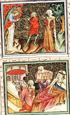 Pocket slits in sideless surcote Bible Václava IV. byla vytvořena mezi roky v České království