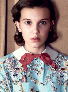 Millie Bobby Brown by Patrick Demarchelier for Vogue UK, December 2017
