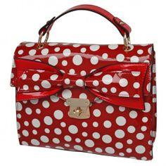 Envy Spotty Satchel Purse Red