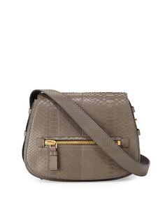 Jennifer Medium Python Shoulder Bag, Dark Gray by TOM FORD at Neiman Marcus.