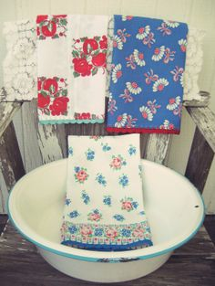 vintage grey:: new vintage fabric and feedsack tea towels in the shoppe http://vintagegrey.storenvy.com/