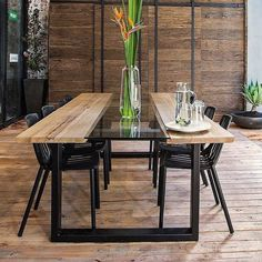 Who else would like to dine al fresco on @karlieandwill's terrace tonight?! Search 'Hydrowood' to get one of these stunning tables. #theblock #terrace #alfresco http://ift.tt/2humrPd