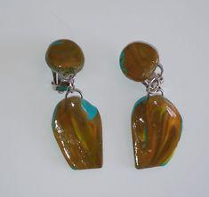 """Ohrringe """"Toffee"""" Ohrclips – Unikate Schmuck Drop Earrings, Toffee, Jewelry, Fashion, Earrings, Ear Jewelry, Ear Piercings, Sticky Toffee, Moda"""