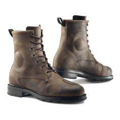 TCX X Blend Waterproof Boots - Brown | Motorcycle Boots | FREE UK delivery - The Cafe Racer