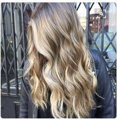 Light blond front, ombré