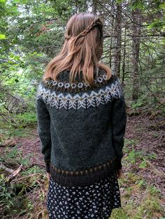 Woodland Icelandic Sweater / Lopapeysa Size S READY to SHIP