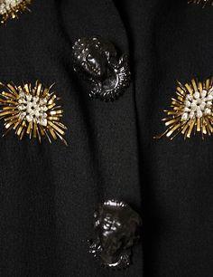 Evening jacket (image 3 - detail) | Elsa Schiaparelli | French | winter 1938-39 | synthetics, plastic, metallic thread | Metropolitan Museum of Art | Accession Number: 1977.201.15
