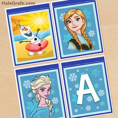 FREE Printable - Frozen Alphabet and Birthday Banner Pack
