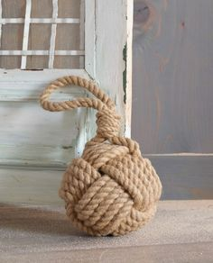 Rope Knot Accent . Rope Knot Doorstop. Keep the doors open with ease while you enjoy the breeze. Natural jute rope is crafted in a traditional monkey fist.