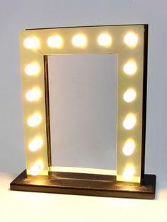 Letra de Bombillas LED XL. #letras #bombillas #luces #iluminacion ...:Dressing Room Bulb Mirror,Lighting