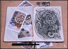 "Russian illustrator Irina Vinnik will make you say ""wow!"" over her sketchbooks."