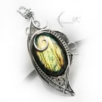 NAVINTROX - silver and labradorite by LUNARIEEN
