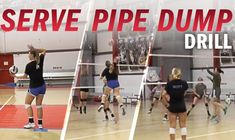 Doane University coach Gwen Egbert noticed her players were struggling to cover dumps and defend the pipe so she invented the Serve-Pipe-Dump Drill. Volleyball Skills, Volleyball Clubs, Volleyball Training, Volleyball Workouts, Volleyball Quotes, Coaching Volleyball, Basketball Tips, Girls Softball, Volleyball Players